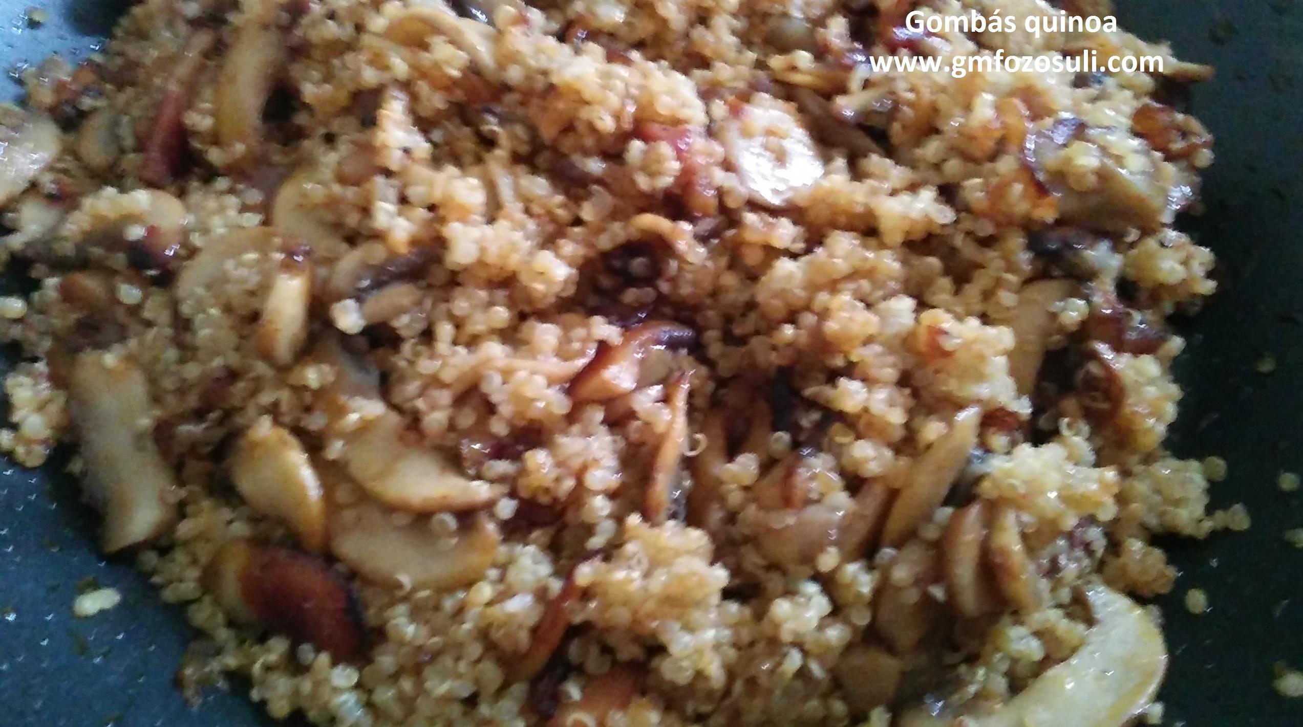 Tejszínes-gombás quinoa