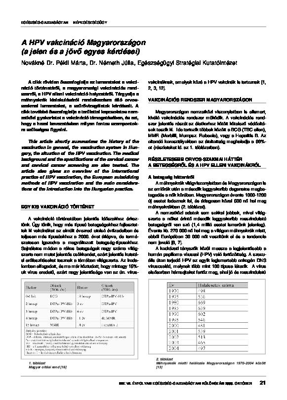 humán papillomavírus altípusok